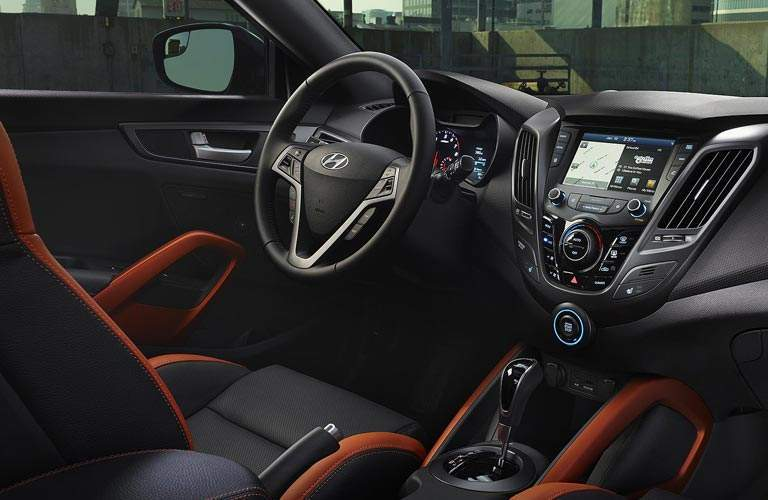2017 Hyundai Veloster driver dash and infotainment system