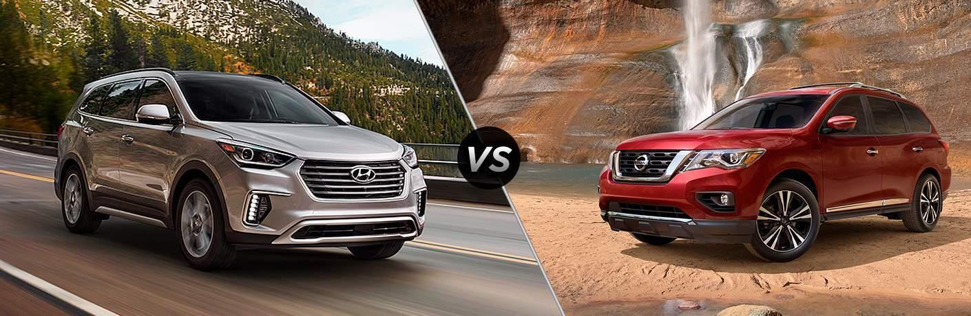 2017 Hyundai Santa Fe vs 2017 Nissan Pathfinder