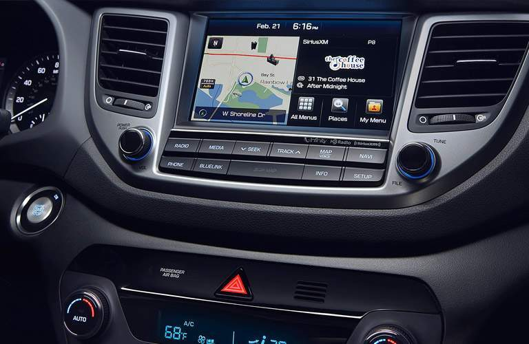 hyundai tucson infotainment screen