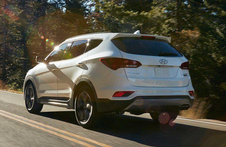 2017 Hyundai Santa Fe Sport back view