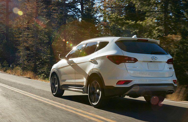 2017 Hyundai Santa Fe Sport rear bumper design