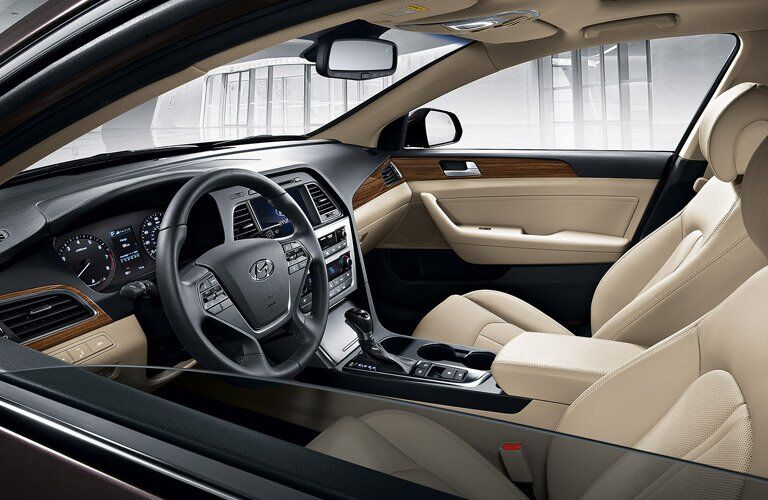 2017 Hyundai Sonata seating design and materials