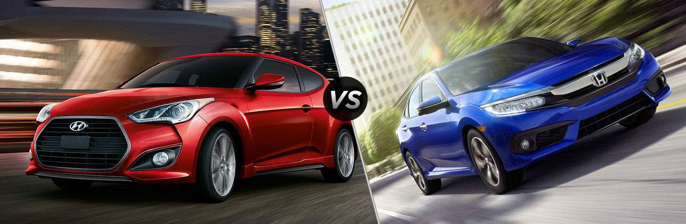 2017 Hyundai Veloster vs 2017 Honda Civic Coupe