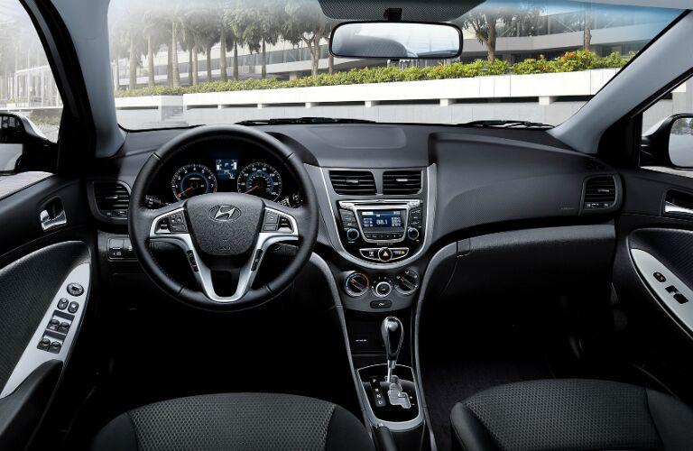 2017 Hyundai Accent dashboard layout