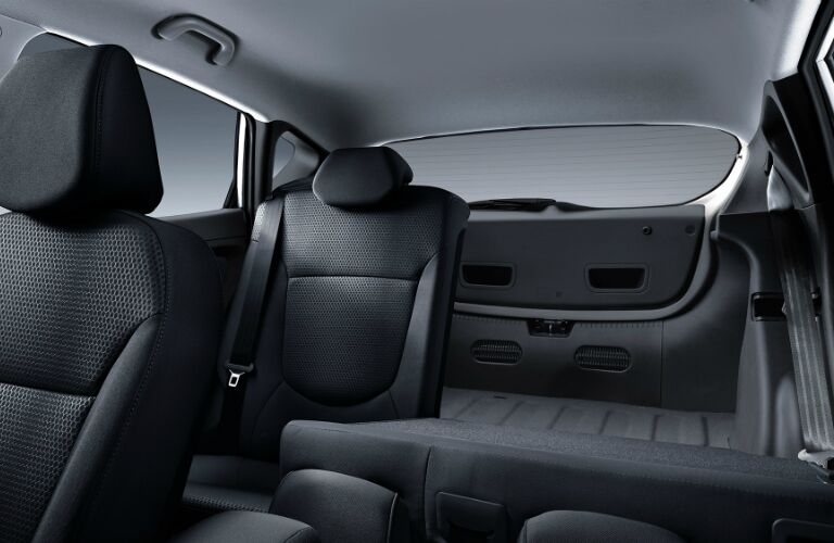 2017 Hyundai Accent rear seat passenger and cargo space