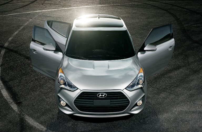2017 Hyundai Veloster with three doors open