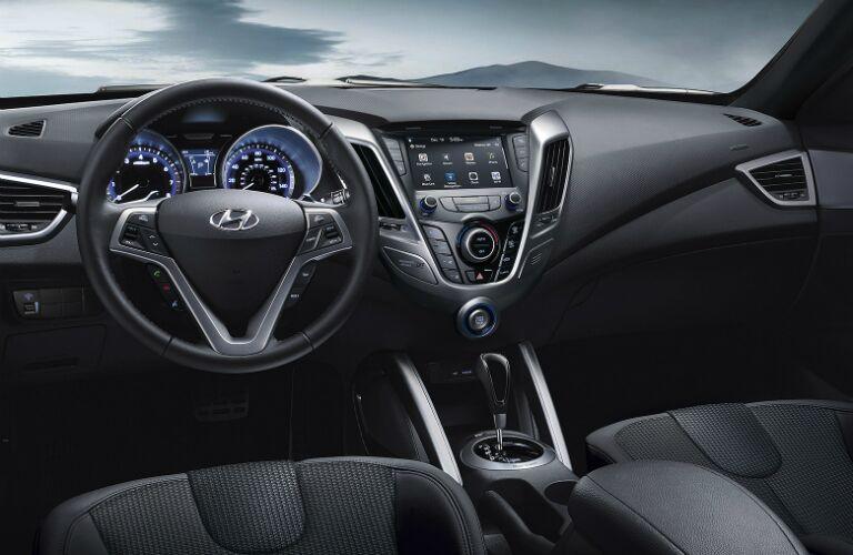 2017 Hyundai Veloster dashboard layout