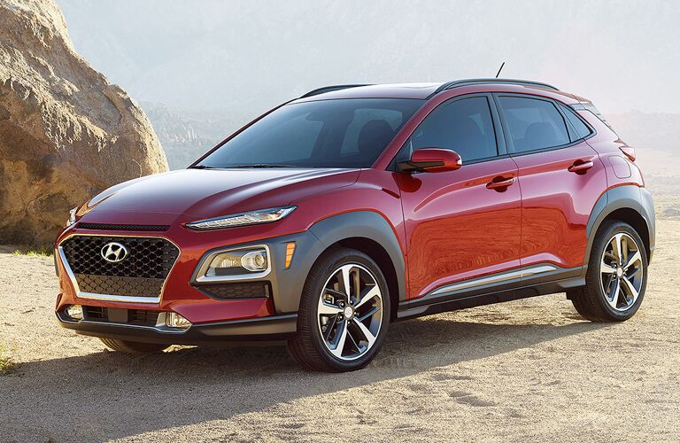 2018 Hyundai Kona parked on sand
