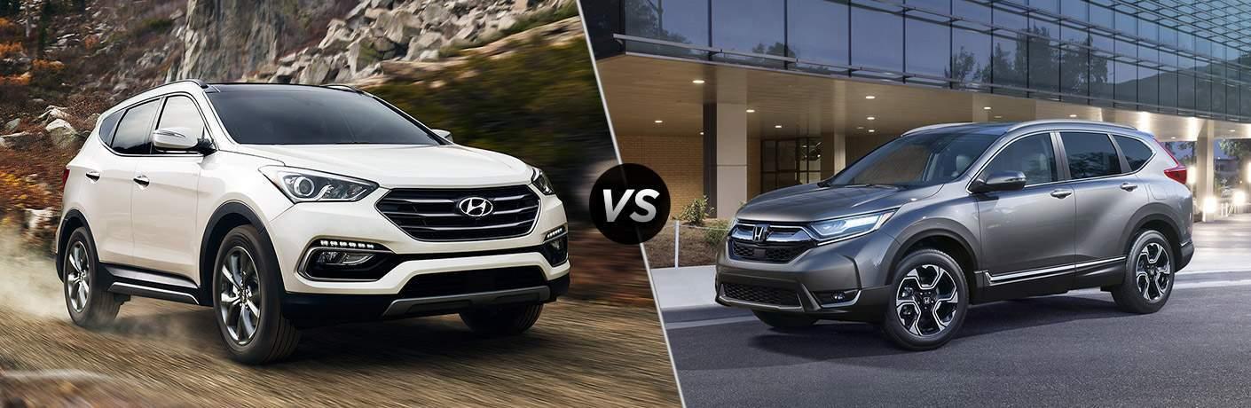 2018 Hyundai Santa Fe Sport Vs 2018 Honda CR V Side By Side