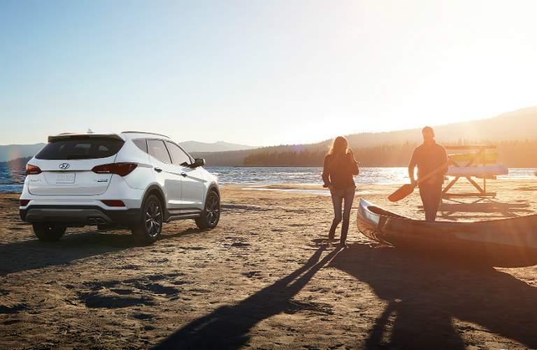 2018 Hyundai Santa Fe Sport on the lake