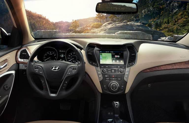 2018 Hyundai Santa Fe Sport with touchscreen navigation