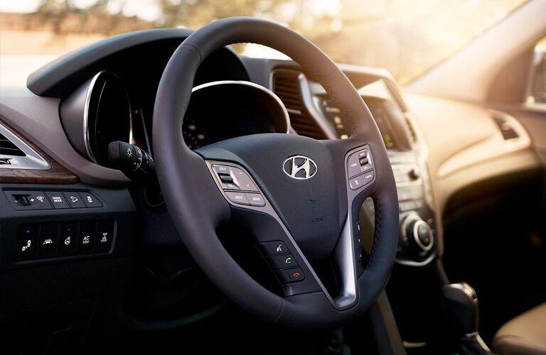 Steering wheel in 2019 Hyundai Santa Fe XL