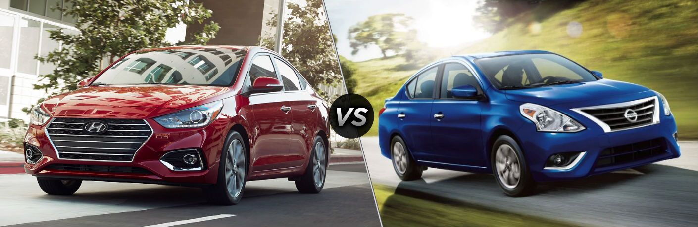 2019 Hyundai Accent vs 2019 Nissan Versa