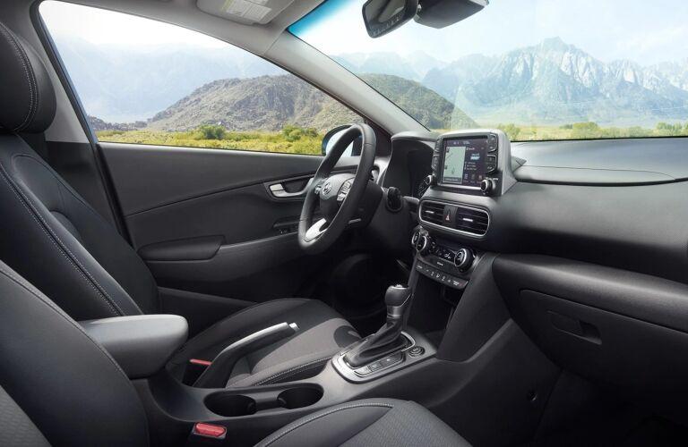 2019 Hyundai Kona black interior front seats