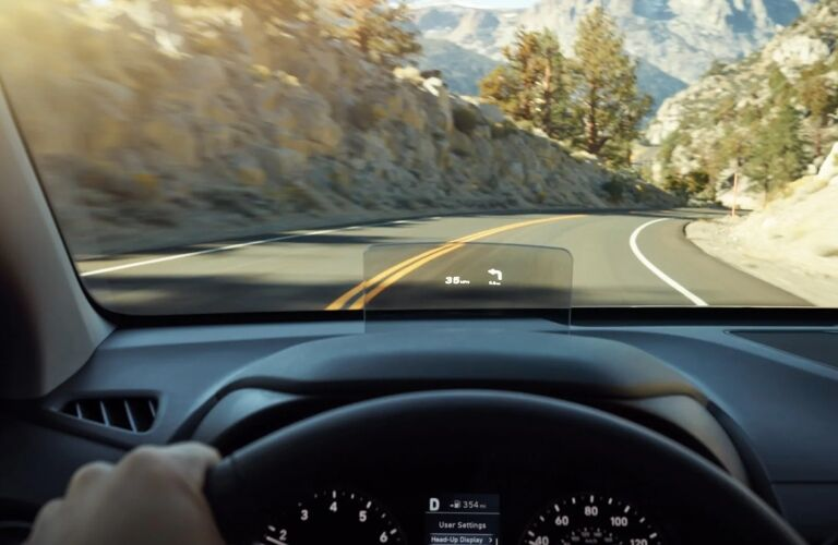 2019 Hyundai Kona heads-up display