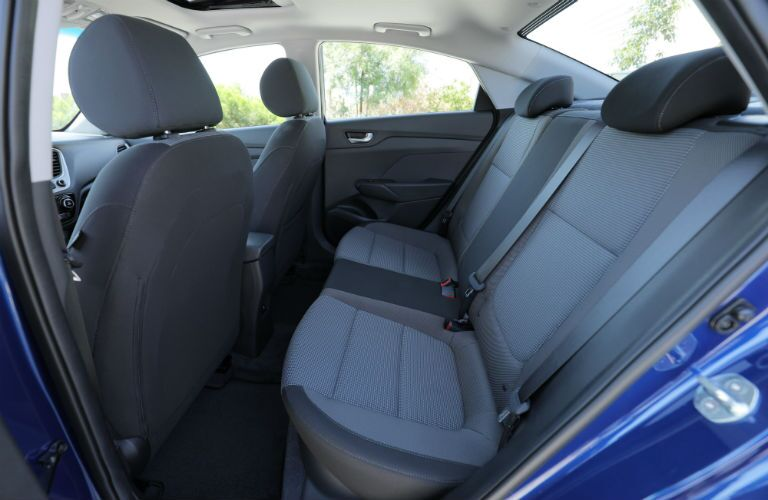 2020 Hyundai Accent Interior Cabin Rear Seating