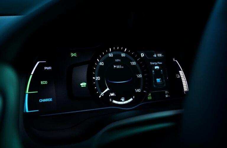 Gauges in 2019 Hyundai Ioniq Hybrid
