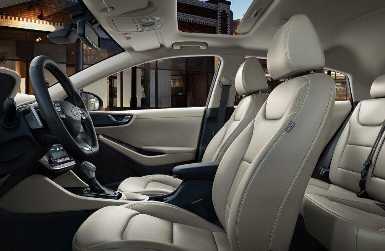 Beige seating in 2019 Hyundai Ioniq Hybrid