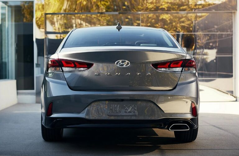 Rear view of 2019 Hyundai Sonata