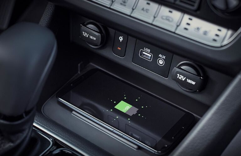 Phone charging in 2019 Hyundai Sonata
