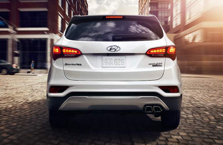 rear design on the 2018 hyundai santa fe sport
