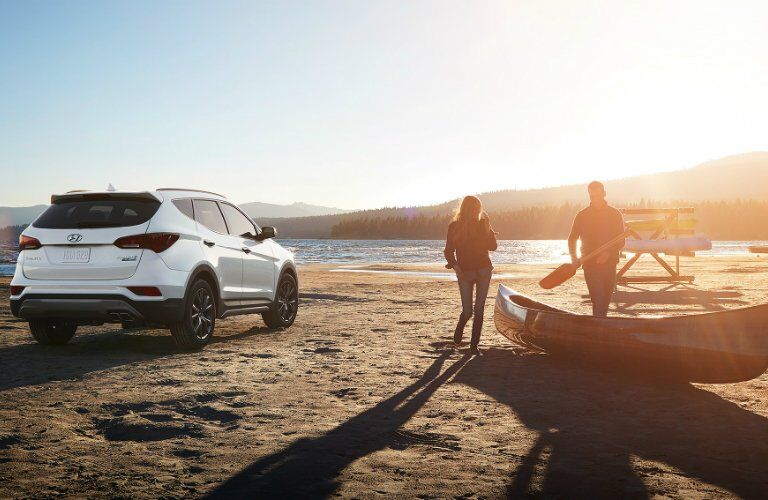 2017 Hyundai Santa Fe Sport on the beach