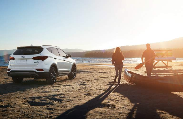 2018 Hyundai Santa Fe parked on a beach