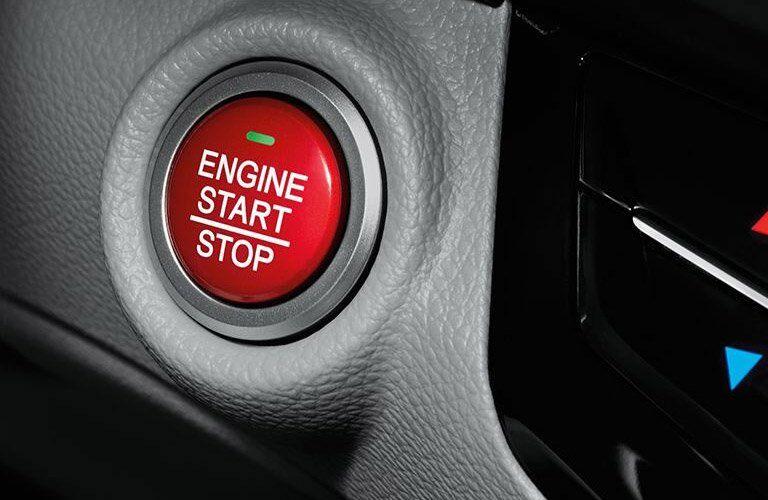 Closeup of 2017 Honda Accord push start button.