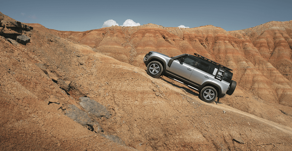 2020 Land Rover Defender Performance Specs on incline