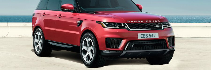 Red Range Rover Sport