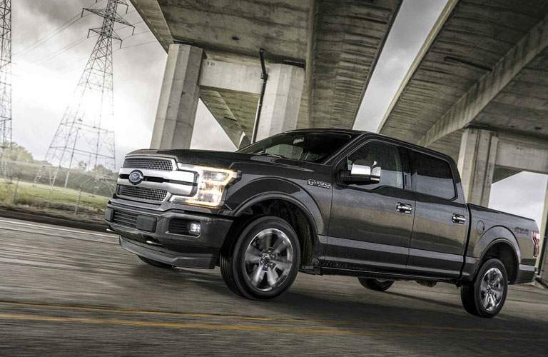 2018 Ford F-150 under a bridge