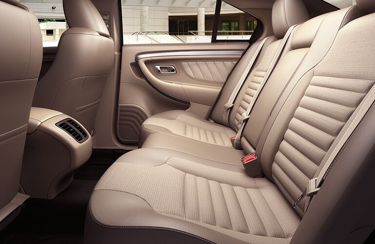 Leather rear seating of 2018 Ford Taurus