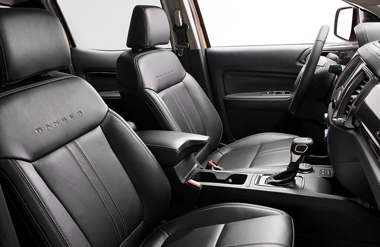 black leather front seating in 2019 Ford Ranger