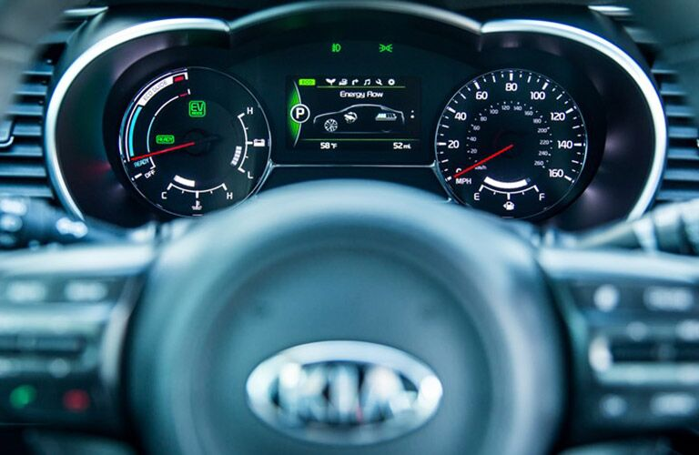 2016 Kia Optima Hybrid dash Frank Boucher Kia Racine WI