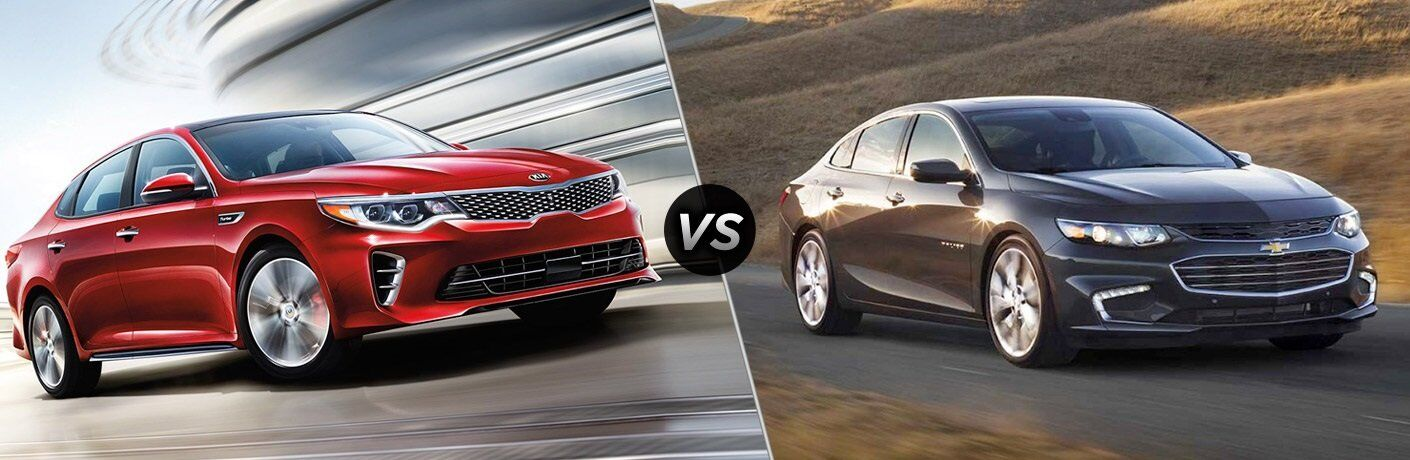 2017 Kia Optima vs. 2017 Chevy Malibu Racine WI