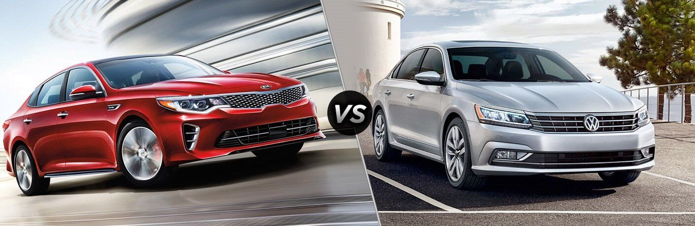 2017 Kia Optima vs. 2017 VW Passat midsize sedans