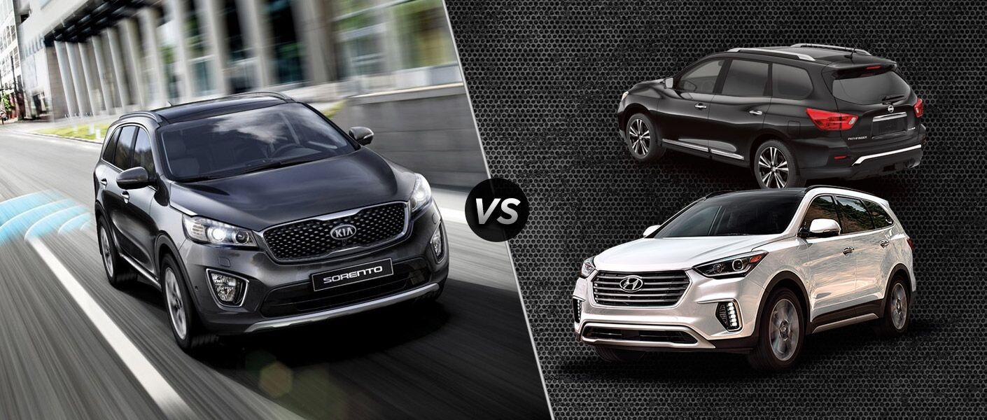 2017 Kia Sorento vs 2017 Hyundai Santa Fe vs 2017 Nissan Pathfinder