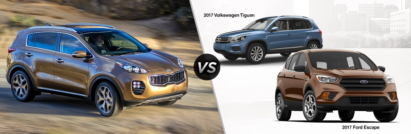 2017 Kia Sportage vs 2017 Ford Escape vs 2017 VW Tiguan