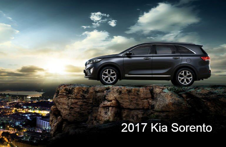 2017 Kia Sorento SUV exterior and interior color options Sangria Remington Red