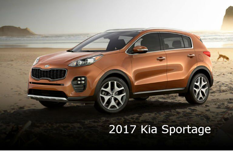 2017 Kia Sportage crossover exterior colors Burnished Copper Black Cherry