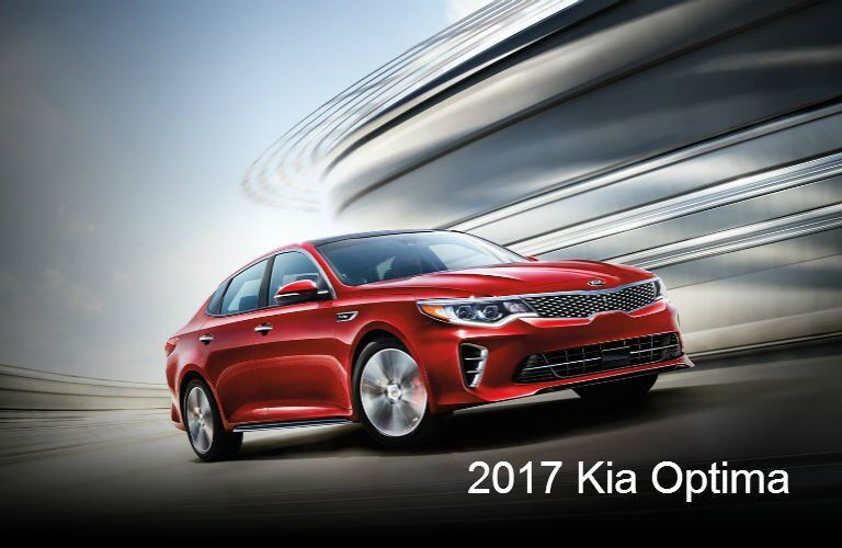 2017 Kia Optima exterior and interior color options Racine WI