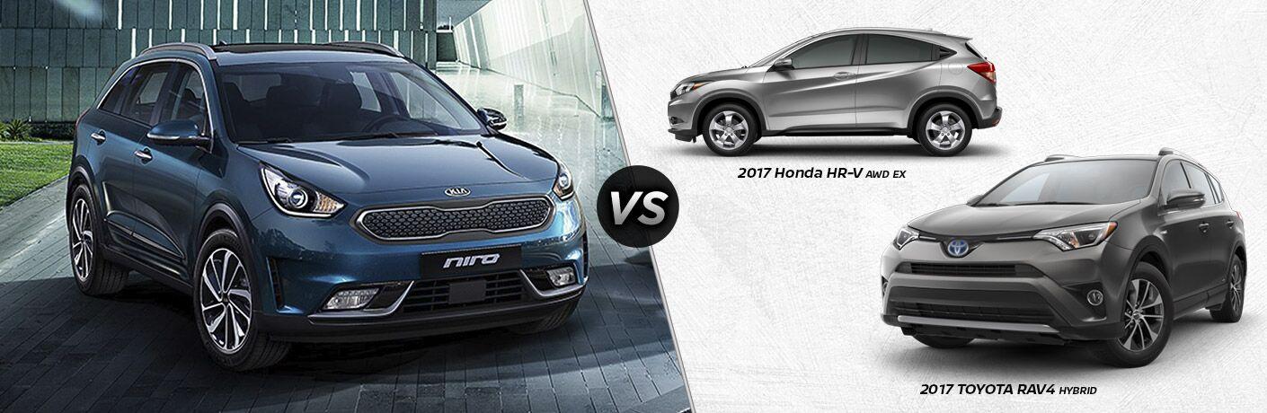 2017 Kia Niro vs 2017 Honda HR-V vs 2017 Toyota RAV4 Hybrid Racine WI