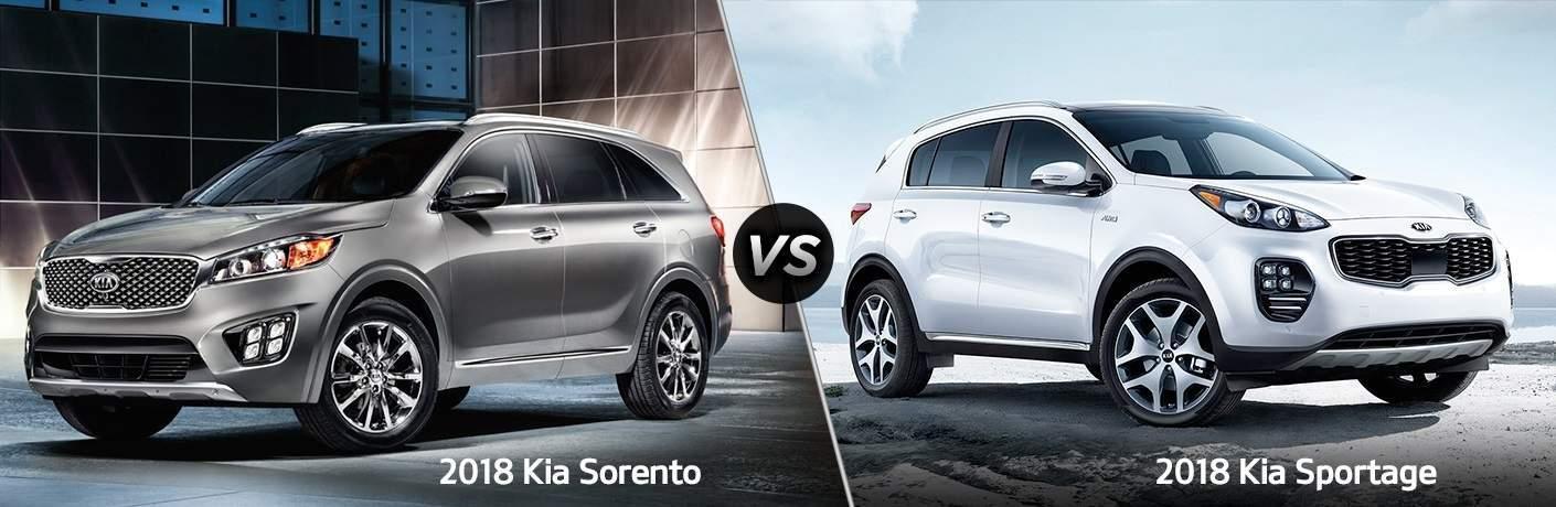 2018 Kia Sportage vs. 2018 Kia Sorento SUV comparison