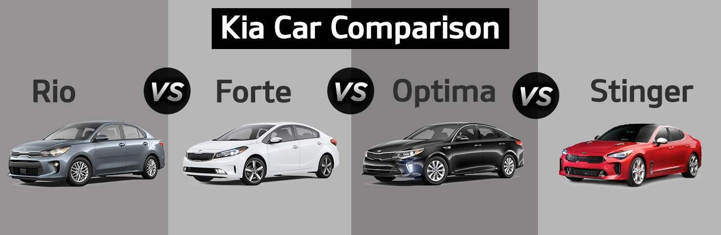 2018 kia cars optima vs forte vs rio vs stinger. Black Bedroom Furniture Sets. Home Design Ideas