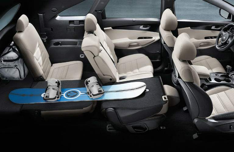 2018 Kia Sorento interior seating and cargo area