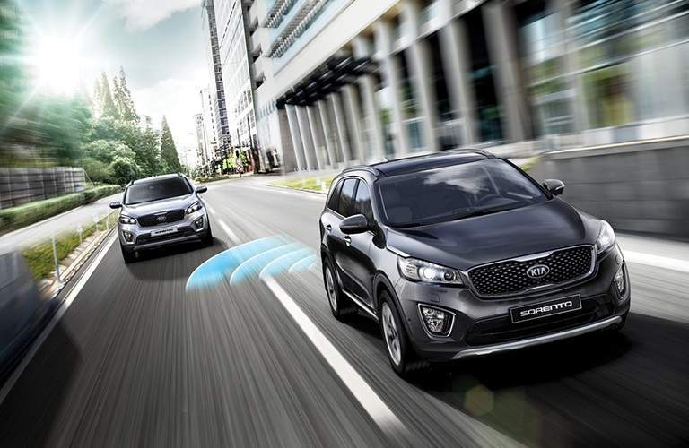 2018 Kia Sorento driving on a road