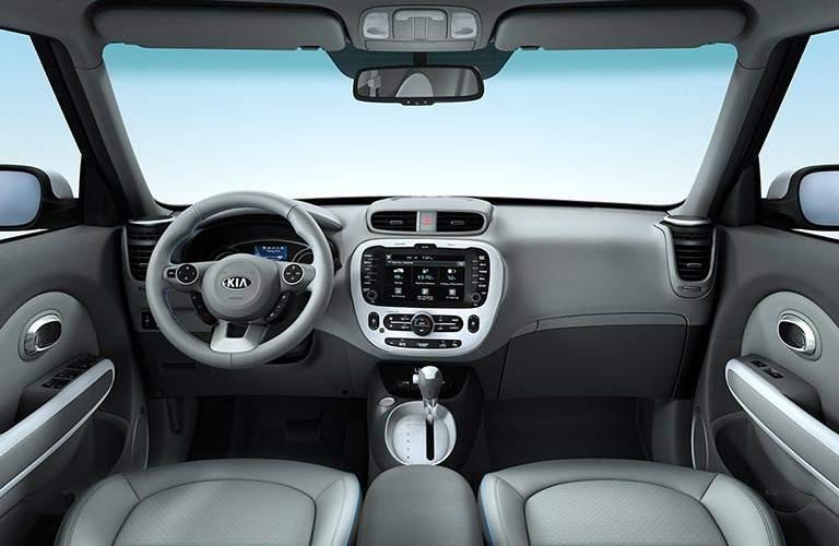 2018 Kia Soul EV front interior view