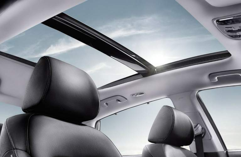 view up at the sunroof in the 2018 Kia Optima Hybrid