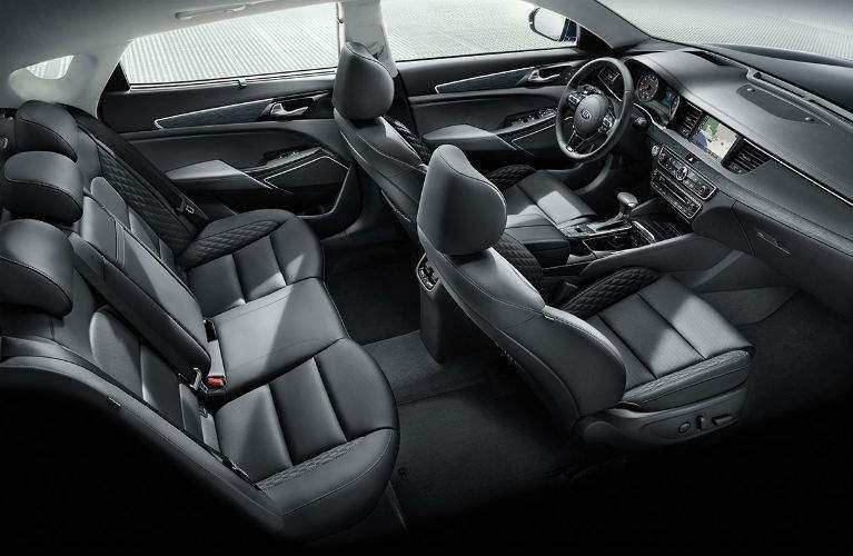 overhead view of seating area inside the 2018 Kia Cadenza
