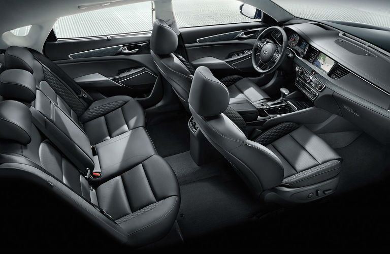 isometric view of seating in 2018 kia cadenza
